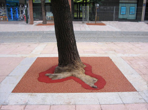 Safe Path permeable product replaces cast iron tree grate